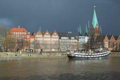 Bremen vóór onweer Royalty-vrije Stock Fotografie
