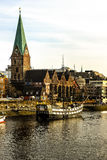 Bremen waterfront, Germany Royalty Free Stock Images
