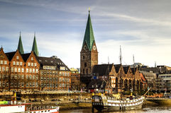 Bremen waterfront, Germany Stock Images