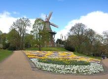 Bremen - windmolen in het park - V - Stock Foto