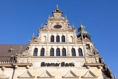 Bremer bankkontorsbyggnad i Bremen Arkivbild