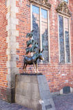 Bremer muzyków Grodzka statua Obraz Royalty Free