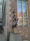 Bremer Stadtmusikanten. The Bremen Town Musicians, a monument typical of Bremen, from the fairy tale by the Brothers Grimm, donkey, dog, cat, rooster Stock Image