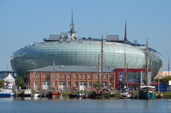 Bremerhaven港口在德国 免版税图库摄影