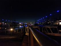 Bremerhaven alla notte fotografia stock libera da diritti