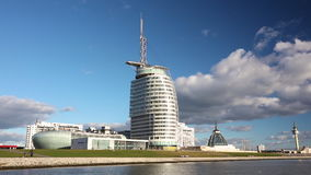 BREMERHAVEN CONFERENCE CENTER - OCTOBER 5 2016: The Bremerhaven Conference Center, Sail City, Bremerhaven, Germany stock video