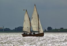 Bremerhaven, Germany - September 8th, 2012 - Classic sailing yacht royalty free stock photography