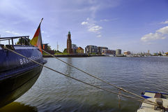 Bremerhaven, marina and old lighthouse Royalty Free Stock Photography