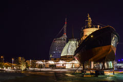 Bremerhaven at night Stock Images