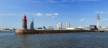 Bremerhaven panorama Royaltyfria Bilder