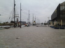 Bremerhaven river Weser near Bremerhaven museum si Stock Photography