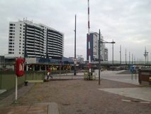 Bremerhaven river Weser near Bremerhaven museum si Royalty Free Stock Photo