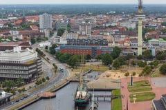 Bremerhaven-Stadtbild Deutschland von oben Stockfotografie