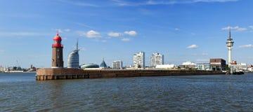 Bremerhavenpanorama Royalty-vrije Stock Afbeeldingen