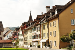 Bremgarten, Switzerland - characteristic swiss houses Royalty Free Stock Photo