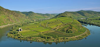 Bremm,Mosel River Bend,germany Royalty Free Stock Photo