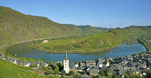 Bremm,Mosel River Bend,germany Stock Images