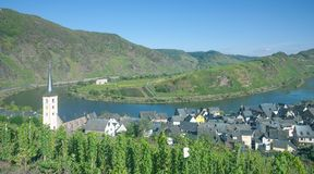 Bremm,Mosel River Bow,Germany Stock Photo