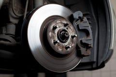 Bremsenplatte und Bremsbeläge Stockbild