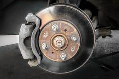 Bremsscheiben und Bremsbeläge Stockfoto