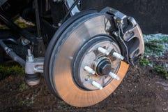Bremssystem des Automobils und Bremsscheibe mit Unterstützung lizenzfreies stockfoto
