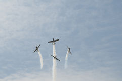 Bremsungs-Flugzeuge Lizenzfreie Stockfotos