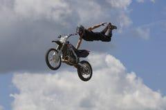 Bremsungs-Radfahrer Lizenzfreie Stockfotos