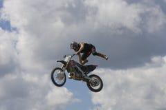 Bremsungs-Radfahrer Stockfoto