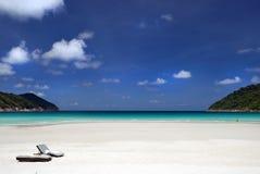Brench dalla spiaggia immagine stock libera da diritti