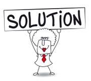 Brenda has a solution royalty free illustration