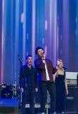 Brendan Murray que canta en la Eurovisión 2017 Foto de archivo