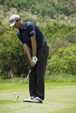 Brendon Todd. Chipping the ball onto the green, on the 4th day of the tournament Royalty Free Stock Images