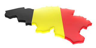 Breng België in kaart Stock Afbeelding