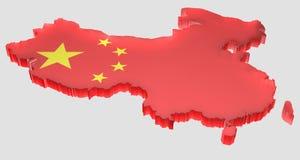 Breng China in kaart Royalty-vrije Stock Afbeeldingen