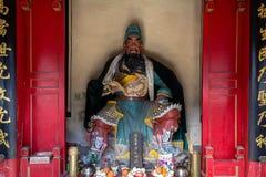 Breng 2014, Chuandixia, Hebei, China in de war: het binnenland van Guandi-tempel stock foto's