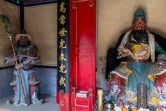 Breng 2014, Chuandixia, Hebei, China in de war: het binnenland van Guandi-tempel stock fotografie