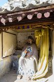 Breng 2014, Chuandixia, Hebei, China in de war: Wudaotempel in Chuandixia stock afbeeldingen