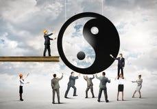 Breng concept in evenwicht Stock Afbeelding