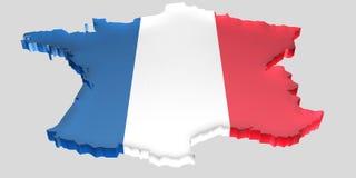 Breng Frankrijk in kaart Royalty-vrije Stock Afbeelding