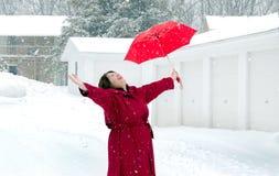 Breng het op de winter! Stock Foto
