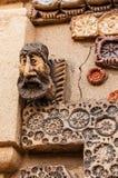 12 breng 2017 M in de war Magomayevsteeg, Baku, Azerbeidzjan De fresko's die de muren van het huis van de kunstenaar-beeldhouwer  Royalty-vrije Stock Foto