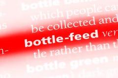 breng met de fles groot Royalty-vrije Stock Afbeelding