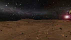 brengt en gloeiende Melkweg en sterren in de war vector illustratie