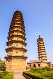 Brengt het pagode-oude oriëntatiepunt van de stad van Tai-Yuan samen stock fotografie