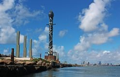 Brennand sculptures in Recife Pernambuco Brazil stock images
