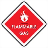 Brennbares Gas des Zeichens Lizenzfreie Stockbilder