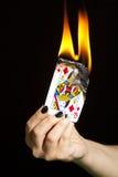 Brennen der Königin der Diamanten Lizenzfreies Stockbild