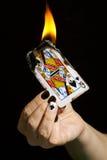 Brennen der Königin der Spaten. Lizenzfreies Stockbild
