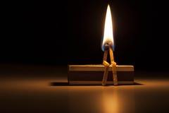 Brennen in der Liebe lizenzfreie stockfotos