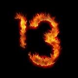 Brennen dreizehn Stockfotos